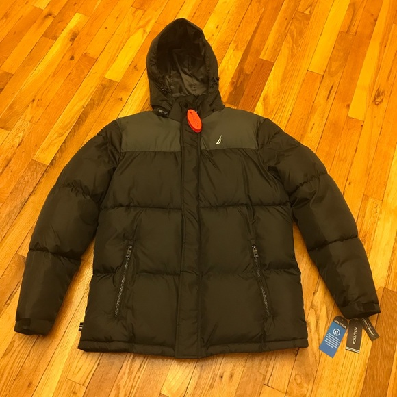Men's Nautica Black Puffer Jacket